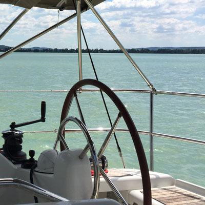 Sail on the lake of Balaton